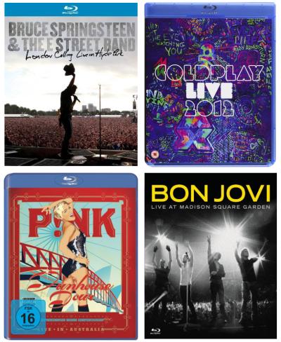 Nette Aktion: Verschiedene Live-Konzerte auf Blu-ray bei Amazon für je 8,90 €