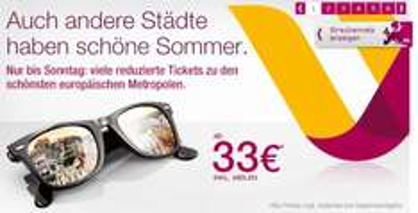 Sommeraktion bei Germanwings: Günstige Flugtickets ab 33 € z.B. Berlin-Mailand oder Köln-London