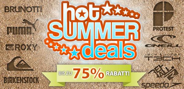 Plutosport: Hot Summer Deals mit bis zu 75% Rabatt & zusätzlich sparen mit Gutschein
