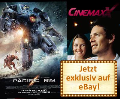 5 CinemaxX-Kinogutscheine im Wert von 52,50 € für 29,90 € - 43% sparen