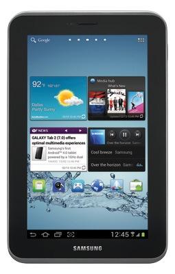 Samsung Galaxy Tab 2.7.0 (7'', WiFi, 8 GB) für 119 € bei Media Markt - 24% Ersparnis