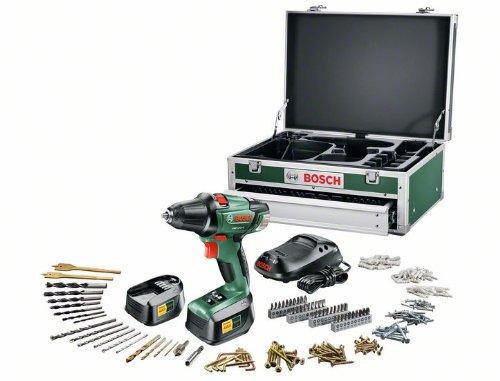 Akku-Bohrschrauber Bosch PSR 18 LI-2 mit großem Zubehörset, Koffer und 2 Akkus für 170,15 € *Update*