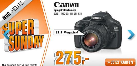 Saturn Super Sunday - heute mit Canon EOS 1100D für 275 € oder Onkyo RBX500 für 109 €