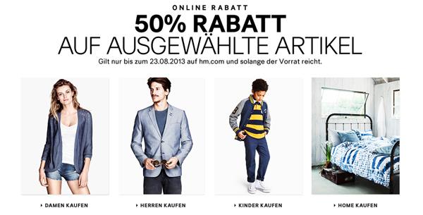 H&M: Sale mit bis zu 50% Rabatt auf ausgewählte Artikel - zusätzlich sparen mit Gutscheinen *Update*