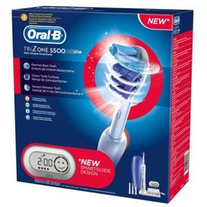 Elektrische Zahnbürste Braun Oral-B TriZone 5500 mit Reise-Etui & SmartGuide für 108,50 €