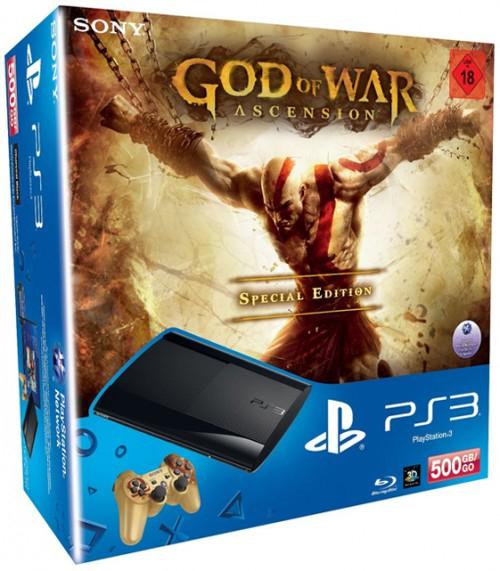 PS3 SuperSlim (500 GB) im God of War: Ascension-Bundle für 199 € - 26% sparen
