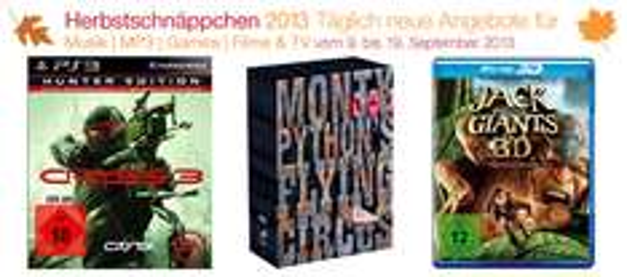 Amazon Herbstschnäppchen 2013 - täglich wechselnde Angebote - Tag 2