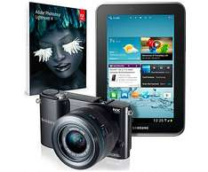 Top! Systemkamera Samsung NX1100 + Galaxy Tab 2 + Photoshop Lightroom 4 für 399 € statt 549 €!