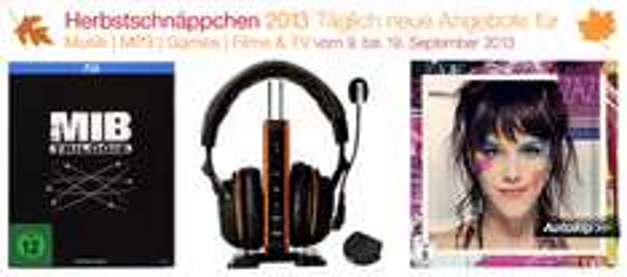 Amazon Herbstschnäppchen 2013 - täglich wechselnde Angebote - Tag 4
