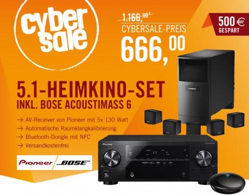 5.1 Heimkino-Set: Pioneer VSX-422 + Bose Acoustimass 6 für 666 € - 22% sparen