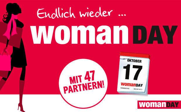 Woman Day: Alle Gutscheine für den 17. Oktober 2013 im Überblick