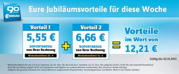 Conrad Jubiläumsvorteil - 12,21 € Rabatt ab 35 € Einkauf - z.B. Devolo DLAN200 AVmini mit 31% Ersparnis
