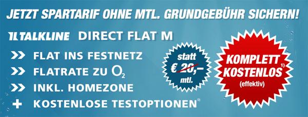 Getmobile: O2 Direct Flat M zwei Jahre für effektiv 0,19 € statt 480 €