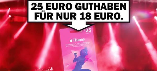 Media Markt Deutschland: iTunes-Guthaben mit 25 € für nur 18 € - nur heute in den Filialen