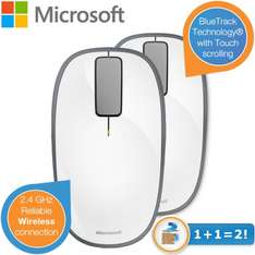 iBOOD: 2er-Pack Microsoft Explorer Touch Mouse für 22,90 € - 18% Ersparnis