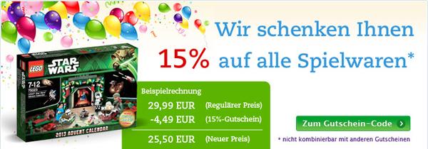 Thalia: 15% Rabatt auf alle Spielwaren mit Gutschein