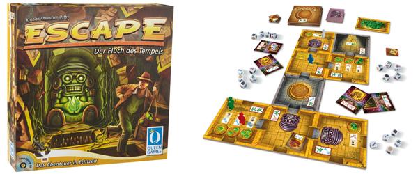 """Brettspiel Queen Games """"Escape - Der Fluch des Tempels"""" für 19,99 € - 43% sparen"""