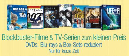 7 Tage Schnäppchen bei Amazon mit günstigen DVDs und Blu-rays