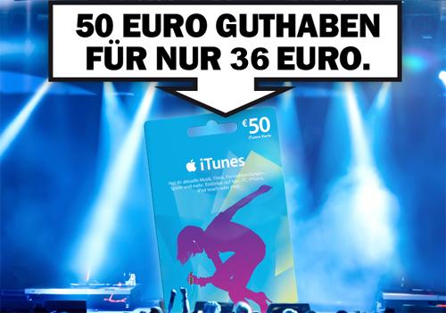 Saturn Deutschland: 50 € iTunes-Guthaben für 36 € - nur am 19. November