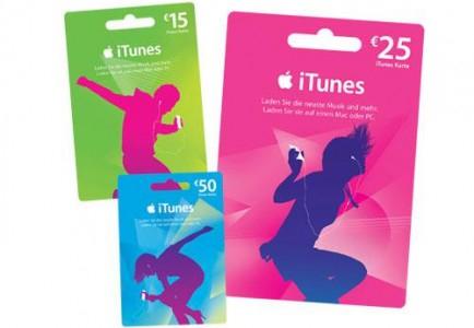 25 € iTunes-Karte für 20 € bei Müller (AT) und Media Markt (DE)