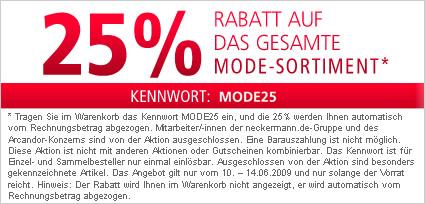 25% auf das gesamte Mode-Sortiment @Neckermann.de