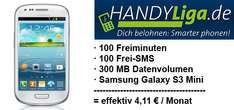 Vodafone All-in XM Smart (100 Minuten, 100 SMS, 300 MB) + Samsung Galaxy S3 Mini für effektiv 4,11 €/Monat