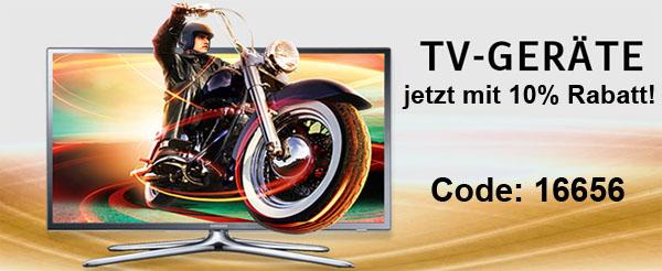 Nur heute: 10% Rabatt auf TV-Geräte bei Universal.at