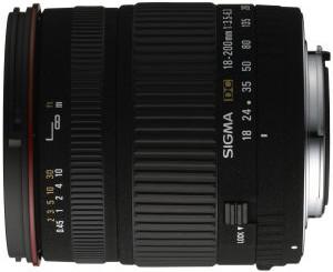 60€ Rabatt auf Sigma 18-200mm 3,5-6,3 DC Objektiv für Canon, Nikon, Sony und Pentax