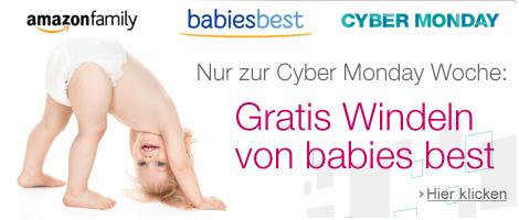 Amazon Family: Gratis Windeln für Neuanmeldungen während der Cyber Monday Woche