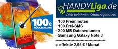 Vodafone All-in XM Smart (100 Minuten, 100 SMS, 300 MB) + Samsung Galaxy Note 3 für effektiv 2,95 €/Monat