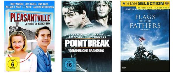Film- und Serienangebote bei Amazon - z.B. 3 Blu-rays für 22 €, 6 DVDs für 20 € oder 2 TV-Serien für 20 €
