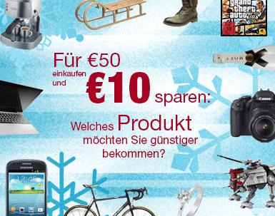 Super! 10 € Amazon Gutschein mit 50 € MBW kostenlos via Facebook *Update*