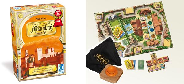 """Geschenkidee: Brettspiel """"Der Palast von Alhambra"""" Gold für 19,99 € - 20% Ersparnis"""