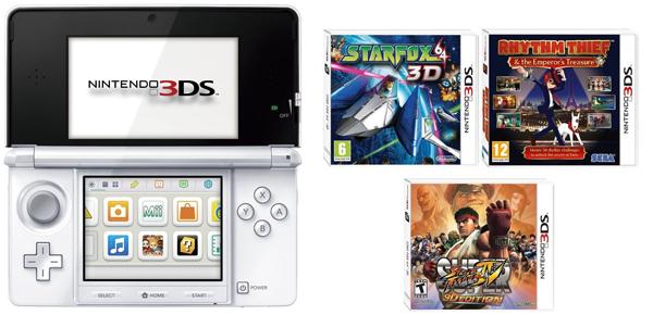*Update* Spielehandheld Nintendo 3DS + 3 Spiele für 161 € bei Amazon UK - 20% Ersparnis - WIEDER DA