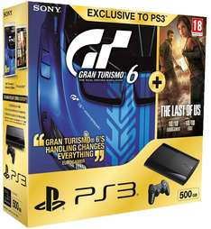 Sony PlayStation 3 (500 GB) + Gran Turismo 6 + The Last of Us für 245 € bei Amazon UK - 22% sparen