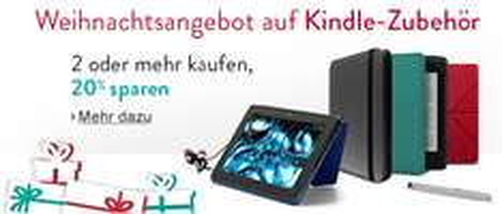 Amazon: 20% Rabatt auf ausgewähltes Kindle-Zubehör beim Kauf von 2 Artikeln