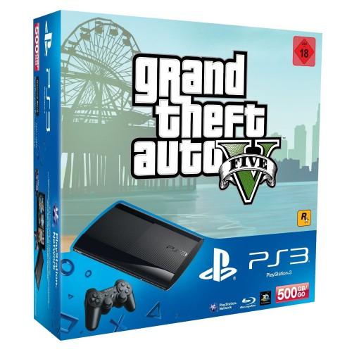 PlayStation 3 (500 GB) + GTA V + Batman: Arkham Origins + Steelbook für 223 € - 29% sparen