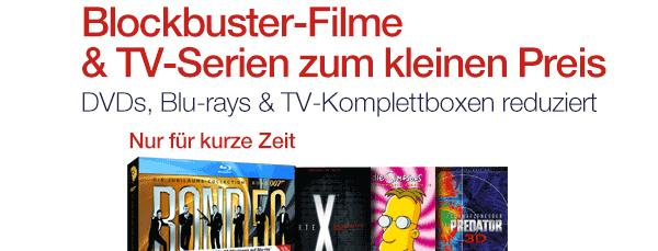 7 Tage Film-Schnäppchen bei Amazon mit günstigen DVDs und Blu-rays