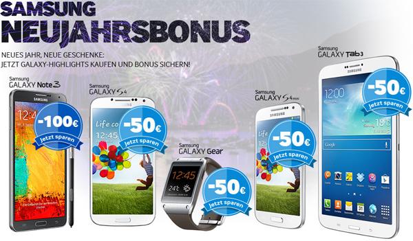 Samsung Neujahrsbonus: bis zu 100 € Cashback auf ausgewählte Artikel *Update* verlängert bis 25. Januar