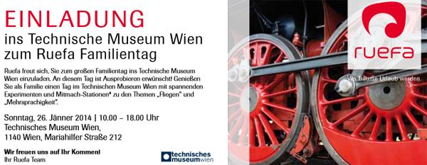 Kostenloser Eintritt ins Technische Museum Wien am 26. Jänner 2014