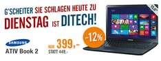 Multimedia-Notebook Samsung Ativ Book 2 (Dual-Core, 4 GB RAM, Windows 8) für 399 € - 11% sparen