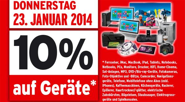 Für Grenzgänger: 10% Rabatt auf Geräte bei Interdiscount - z.B. iPad mini 2 mit Retina für 320 €