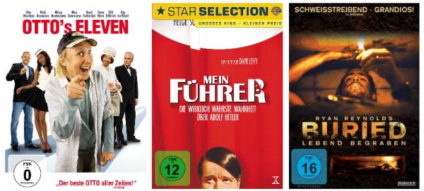 Neue Filmaktionen bei Amazon - z.B. 3 Blu-rays für 25 €, 6 DVDs für 20 € oder Action & Thriller Blu-rays für 7,97 €
