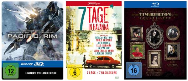 DVD und Blu-ray Angebebote der Woche bei Amazon z.B. Tim Burton Collection (Blu-ray) für 14,97 €