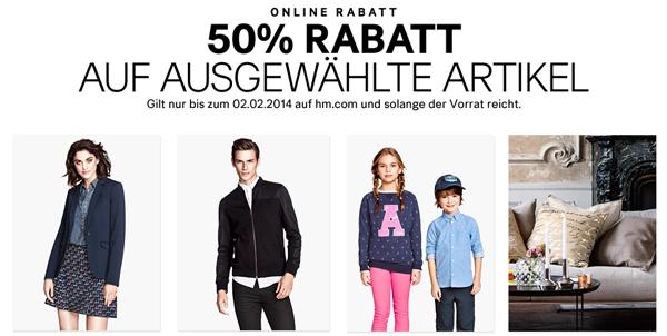 Sale bei H&M mit bis zu 50% Rabatt - zusätzlich 25% und 5 € sparen mit Gutscheinen