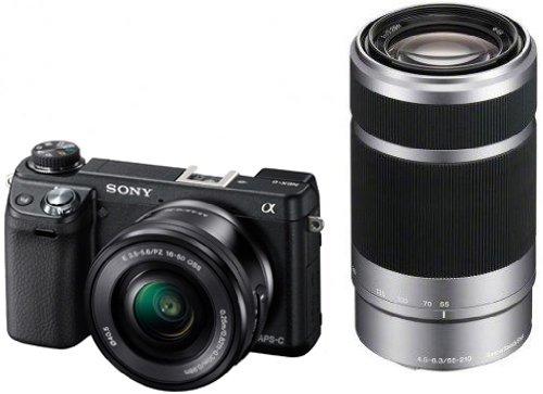Systemkamera Sony Alpha NEX-6 mit 16-50 mm- und 55-210 mm-Objektiv für 779 € - bis zu 12% sparen
