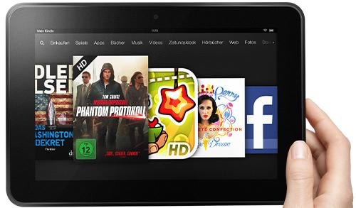 Amazon Kindle Fire HD 8.9 (16 GB, WLAN) jetzt für nur 199 € - 13% Ersparnis