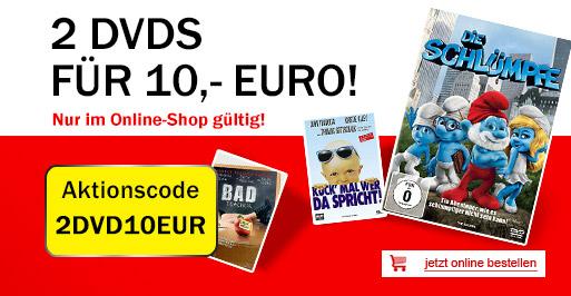 Filmangebote bei Media Markt (DE/AT) - z.B. 2 DVDs für 10 € oder 3 Steelbooks für 9 €