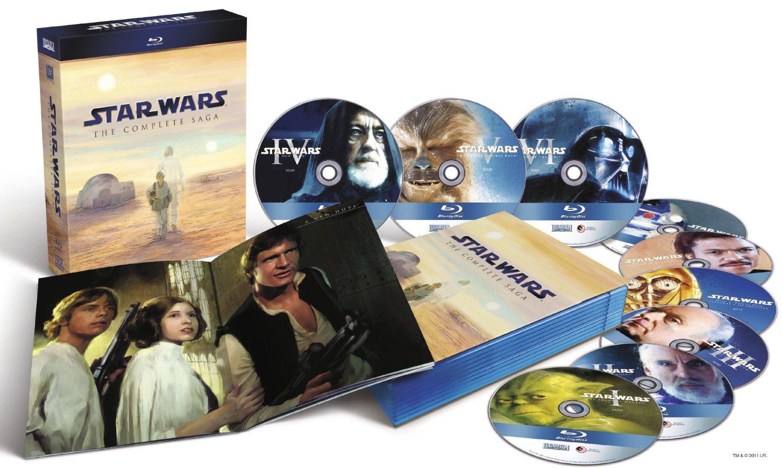 Saturn.at: Star Wars: The Complete Saga I-VI (Blu-ray) für 66 € - 16% Ersparnis