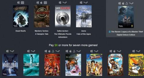 Humble Weekly Sale: The Adventure Company and Friends Bundle mit bis zu 12 Spielen ab 0,73 €